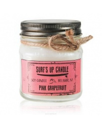 Pink Grapefruit Surf's up Candle